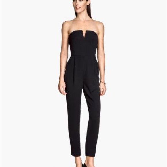 ee83bfb57c5 H M Other - H M black strapless bandeau jumpsuit v Top ...
